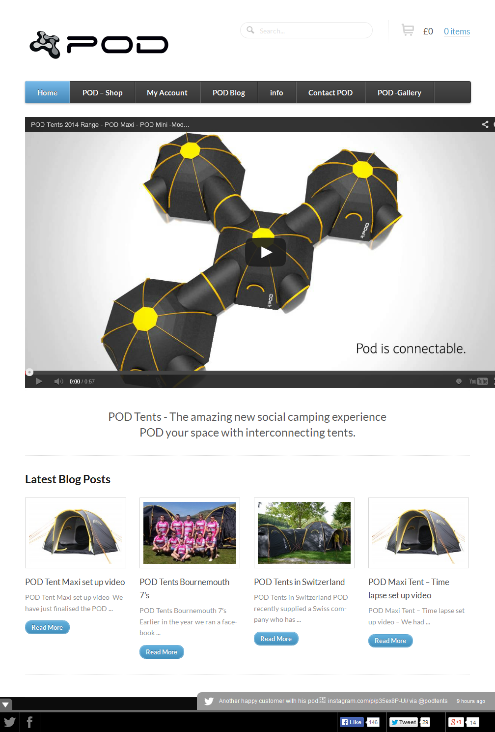 POD Tents - The amazing new social camping experience