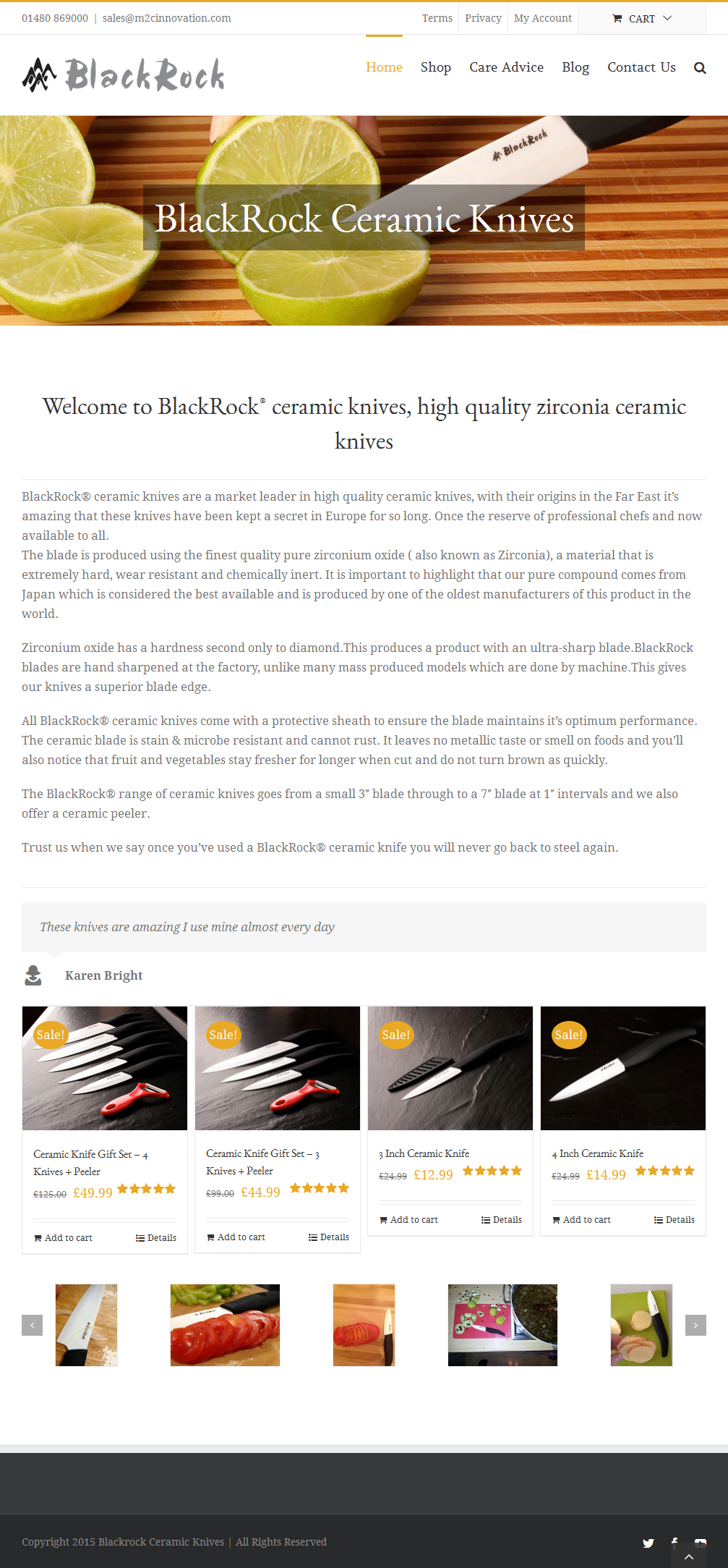 BlackRock ceramic knives, high quality zirconia ceramic knives