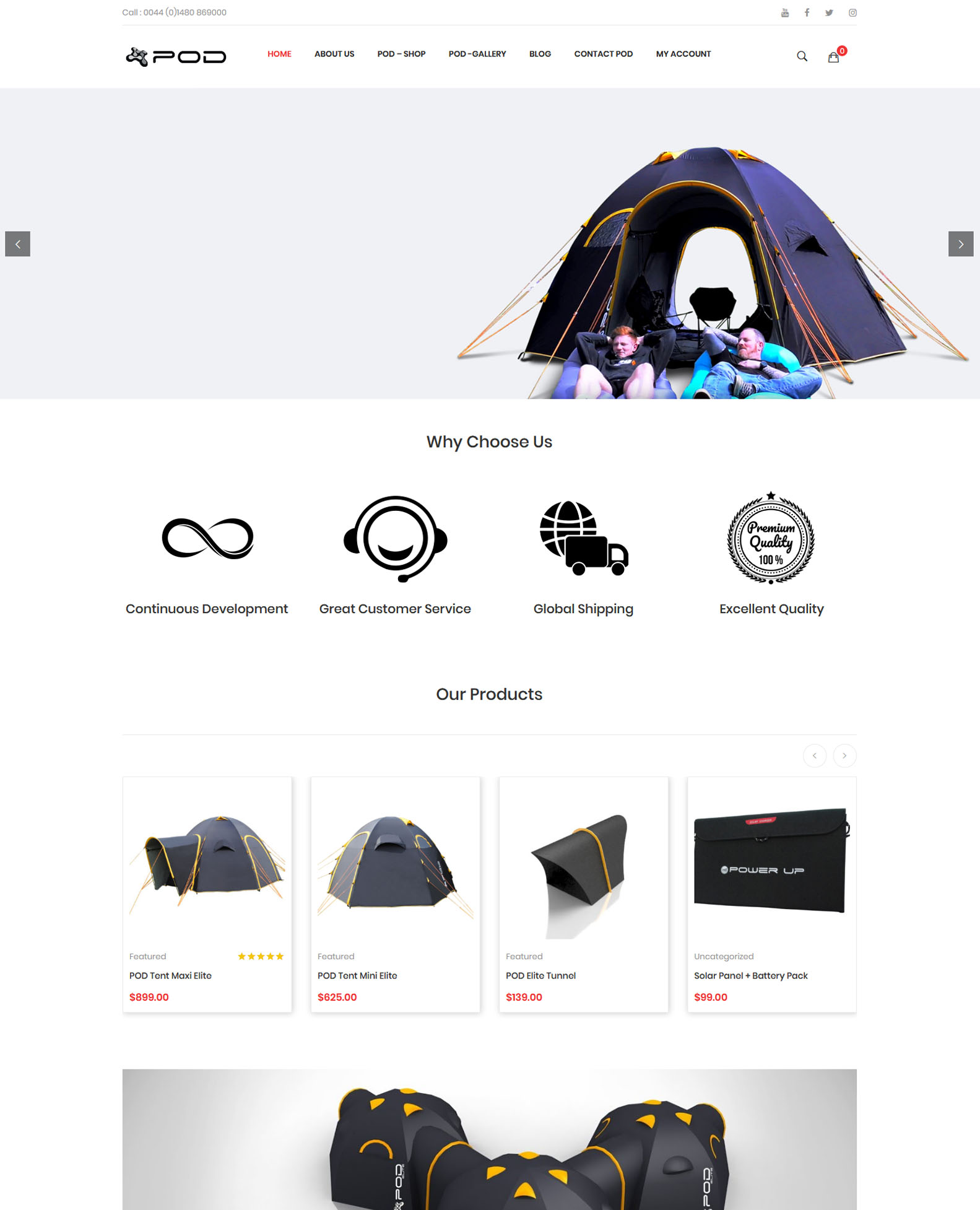 Pod Tents New Site